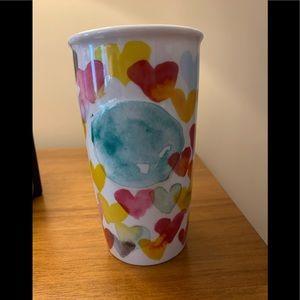 Starbucks 2015 Watercolor Hearts Tumbler